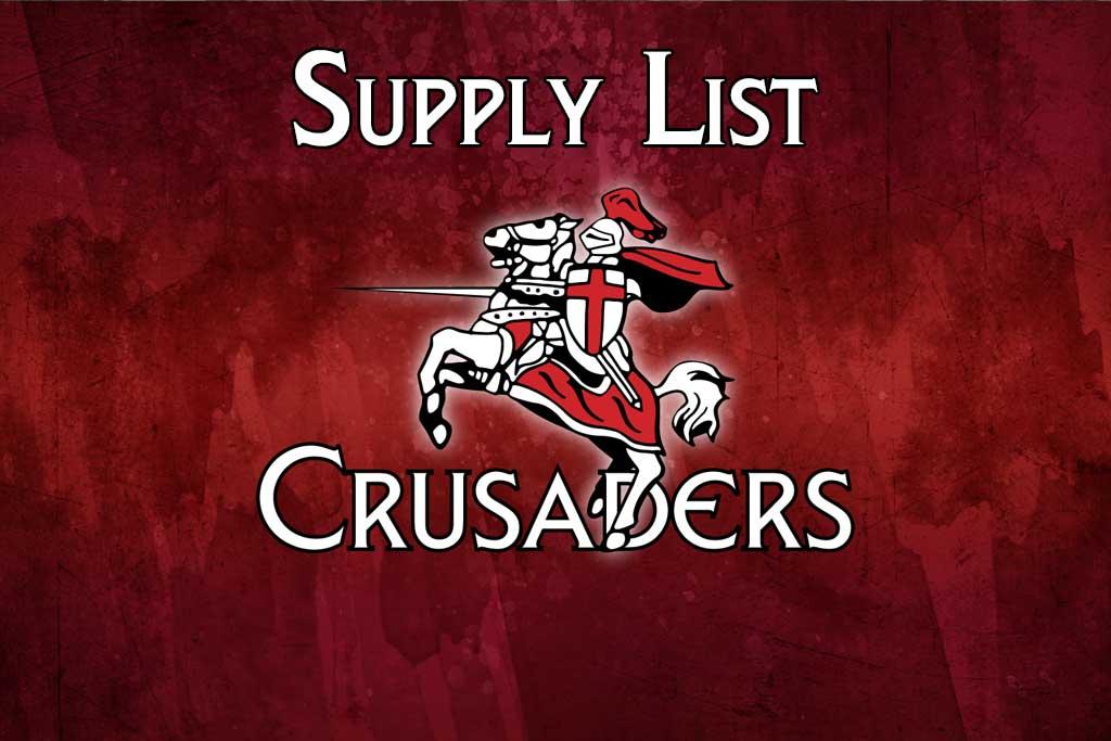2019 – 2020 Supply List